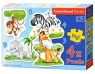 Puzzle konturowe 3-4-6-9 African Animals 4 w 1 (005017)