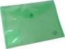 Teczka kopertowa A5 zielona transparentna