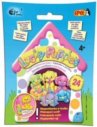 Lucky Puppies Psiaki z Kolorowej Paki - saszetka  Lucky Puppies Psiaki z kolorowej paki to urocze pieski w kropki! (EP01801) praca zbiorowa
