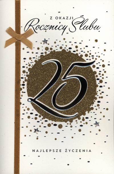 Karnet 25 rocznica ślubu A5 HM-100-742 HM-200-345