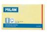 Karteczki samoprzylepne Milan 125x76 mm żółte, 100 sztuk