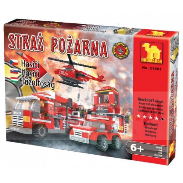 DROMADER Klocki Straż Pożarna 697 el. (21901)