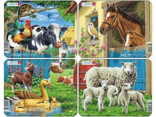 Puzzle Zwierzęta gospodarskie 4 plansze
