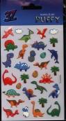 Naklejka Puffy mini dinozaury