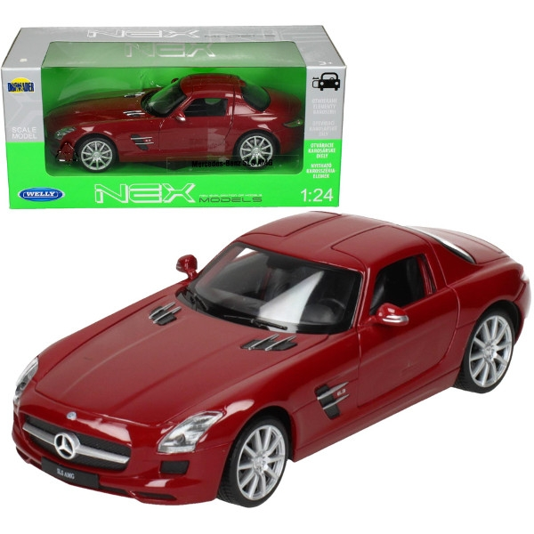 WELLY MercedesBenz SLS AMG, czerwony (WE24025)