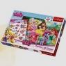 Księżniczki i ich przyjaciele Puzzle + Tatuaże 100 elementów (90502)