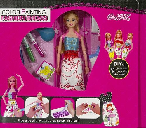 Lalka Kreator sukienek Zestaw do malowania