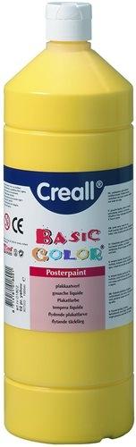 Farba tempera Creall Basic Color 1000ml - żółty podstawowy nr 02 .