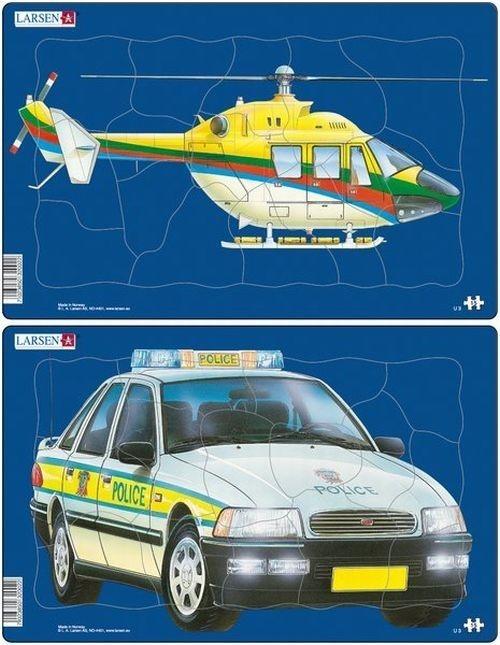 Helikopter/ Samochód policyjny