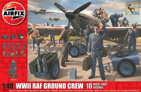 WWII Raf ground crew figures