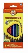 Kredki Triocolor 7 mm 24 kolory