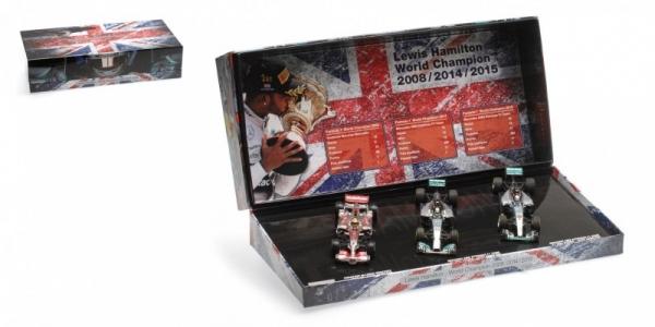3-Car Set Lewis Hamilton World Champion Triple Set 2008/2014/2015 (412081415)