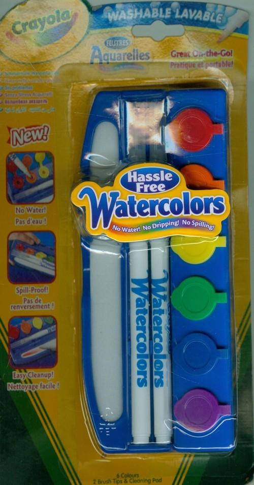 Akwarele w mazaku Crayola