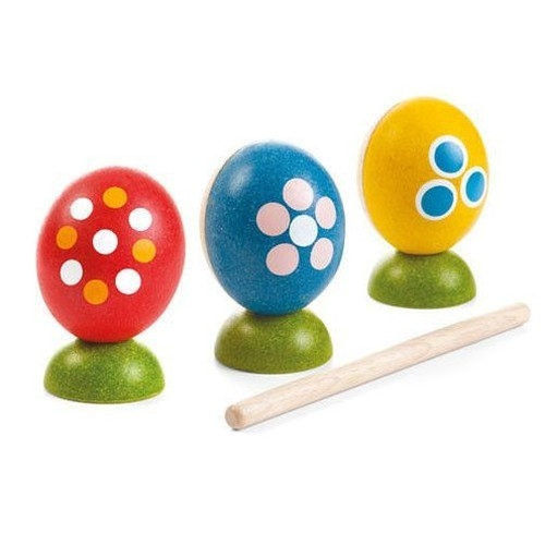 Drewniana perkusja jajka