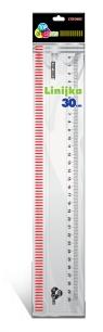 Linijka 30 cm transparentna Top 2000