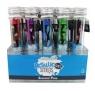 Zestaw Pachnących Długopisów Żelowych Smens w Tubach Metaliczne kolor 25 długopisów, 5 zapachów
