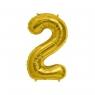 Balon Cyfra NR.2 złoty 81CM