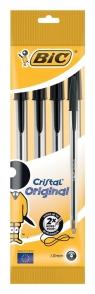 Długopis Cristal Original Czarny 4 sztuki