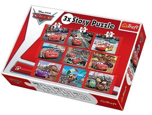 Auta 3x Story Puzzle  (90302)