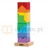 WOODYLAND Kolorowa wieża z klocków (91102)