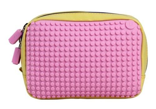 Kosmetyczka Pixelbags wodoodporna żółto-różowa  (WY-B003-FB)