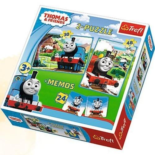 Puzzle 2w1: Tomek i przyjaciele + memos (90602)
