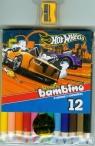 Kredki bambino drewniane 12 kolorów z temperówką Hot Wheels