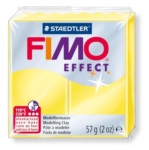 Masa termoutwardzalna Fimo effect. Żółty przezroczysty. (8020-104)