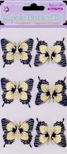 Naklejka motyle tekturowe