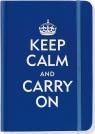 Notatnik mini niebieski Zachowaj Spokój