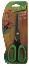 Nożyczki szkolne z miękkimi rączkami zielone 15 cm