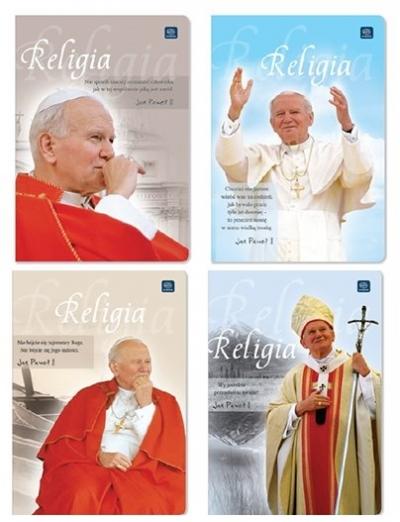 Zeszyt tematyczny do Religii A5/60 kartek - Jan Paweł II
