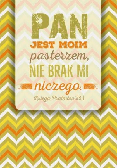 Kartka składana - Pan Jest Pasterzem moim SZK 028