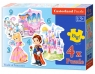 Puzzle konturowe 3-4-6-9 elementów World of Princesses 4 w 1 (005031)