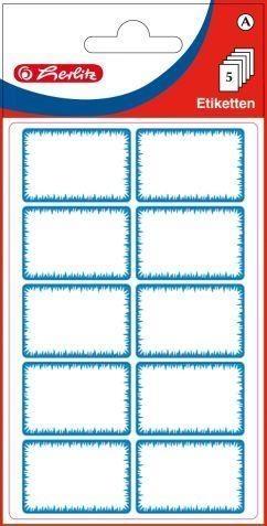 Naklejki A Etykiety biało- niebieskie