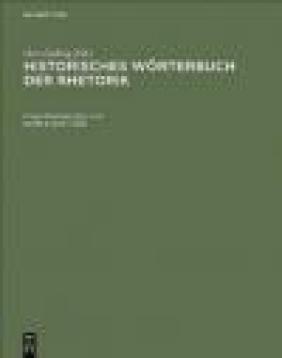 Historisches Worterbuch Der Rhetorik v 3 G Ueding