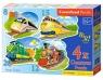 4x1 Contour Puzzle 8-12-15-20 Funny Trains (043033)