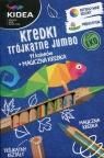Kredki trójkątne Jumbo Eko - 11 kolorów + magiczna kredka (DRF-43033)