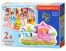 Puzzle konturowe 2w1 The Princess Ball