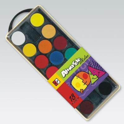 Farby akwarelowe Jedność 18 kolorów
