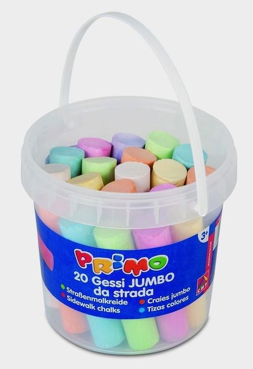 Kreda kolorowa gruba Primo Jumbo 20 sztuk w wiaderku