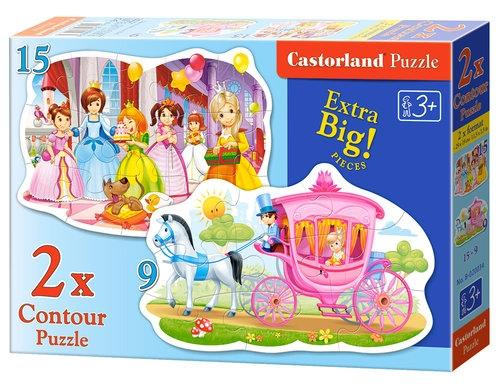 Puzzle konturowe 2w1 The Princess Ball (020034)