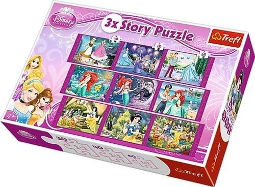 Puzzle 3xStory Księżniczki 30+40+60 (90303)