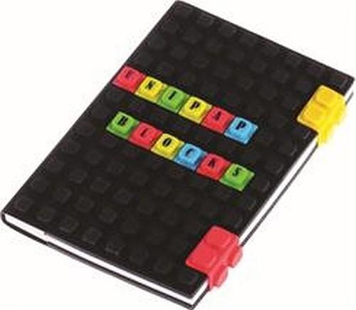 Notes silikonowy A5 Unipap Blocks w kratkę 100 kartek czarny