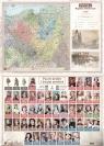 Mapa Polski A2 regiony historyczne/poczet królów i książąt dwustronna ścienna