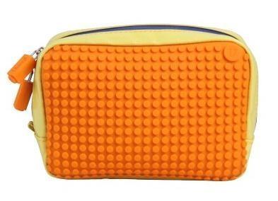 Kosmetyczka Pixelbags wodoodporna żółto-pomarańczowa