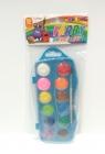 Farby akwarele F&J 12kol.25mm średnica w kasetce