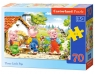 Puzzle Three Little Pigs 70 elementów (007035)