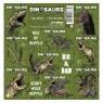 Nalepki 16x16 dinozaurmix