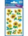 Naklejki papierowe z kwiatkami. Słonecznik